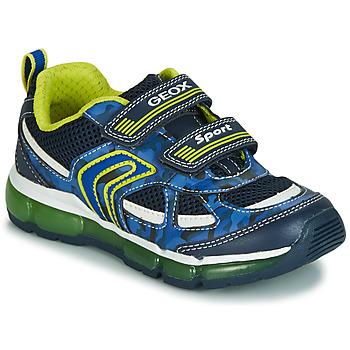 Boty Chlapecké Nízké tenisky Geox J ANDROID BOY Tmavě modrá / Žlutá