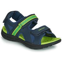 Boty Chlapecké Sportovní sandály Geox J GLEEFUL BOY Modrá / Žlutá