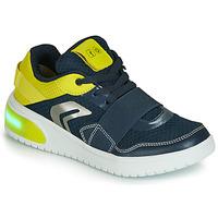 Boty Chlapecké Nízké tenisky Geox J XLED BOY Modrá / Žlutá