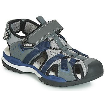 Boty Chlapecké Sportovní sandály Geox J BOREALIS BOY Šedá / Tmavě modrá