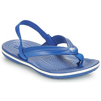 Boty Děti Žabky Crocs CROCBAND STRAP FLIP K Modrá