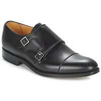 Boty Muži Šněrovací společenská obuv Barker TUNSTALL Černá