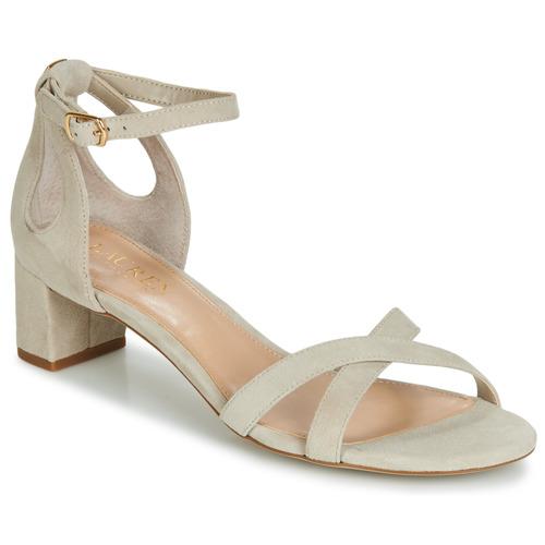 Boty Ženy Sandály Lauren Ralph Lauren FOLLY Béžová