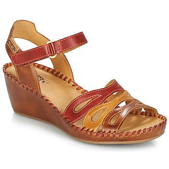 Boty Ženy Sandály Pikolinos MARGARITA 943 Červená / Hnědá