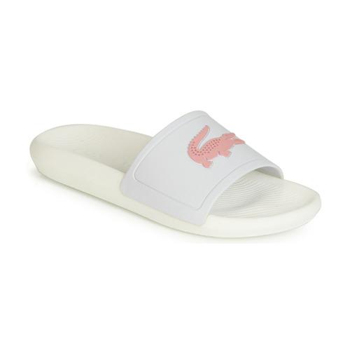 Boty Ženy pantofle Lacoste CROCO SLIDE 119 3 Bílá / Růžová