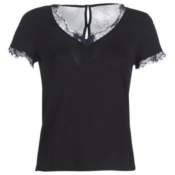 Textil Ženy Trička s krátkým rukávem Morgan DMINOL Černá
