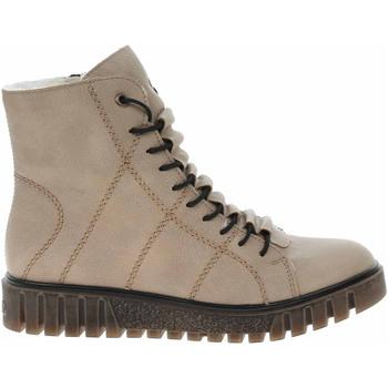 Boty Ženy Polokozačky Rieker Dámská kotníková obuv  Y3420-60 beige Béžová