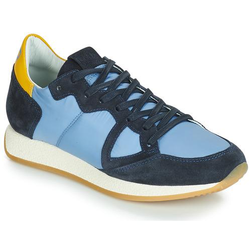 Boty Ženy Nízké tenisky Philippe Model MONACO VINTAGE BASIC Modrá / Žlutá
