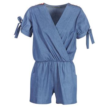 Textil Ženy Overaly / Kalhoty s laclem Molly Bracken MOLLIOTETTE Modrá