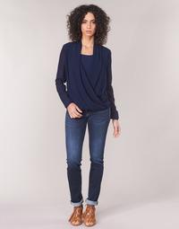 Textil Ženy Rifle rovné Le Temps des Cerises PULP REGULAR Modrá