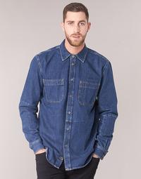 Textil Muži Košile s dlouhymi rukávy Diesel D FRED Modrá
