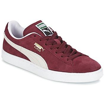 Boty Nízké tenisky Puma SUEDE CLASSIC Červená / Bílá