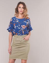 Textil Ženy Halenky / Blůzy Cream ALLY Modrá