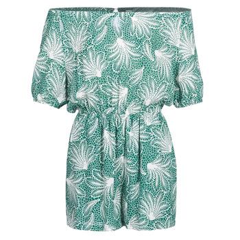 Textil Ženy Overaly / Kalhoty s laclem See U Soon GARAGABE Zelená / Bílá