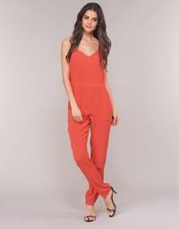 Textil Ženy Overaly / Kalhoty s laclem See U Soon GARAGAI Červená