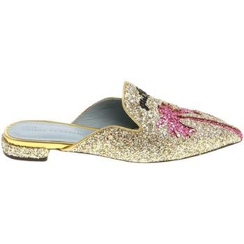 Boty Ženy Pantofle Chiara Ferragni CF1842 GLITTER ORO oro