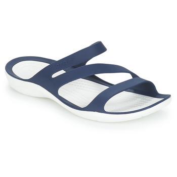 Boty Ženy pantofle Crocs SWIFTWATER SANDAL W Tmavě modrá