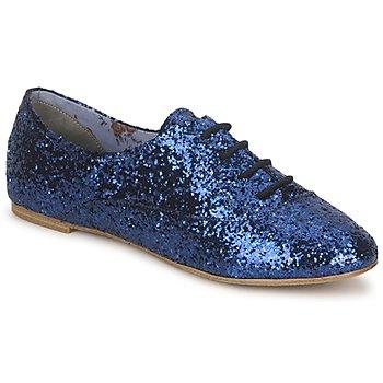 Boty Ženy Šněrovací společenská obuv StylistClick NATALIE Modrá