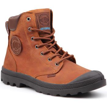Boty Muži Kotníkové boty Palladium Pampa Cuff WP Lux 73231-733-M brown