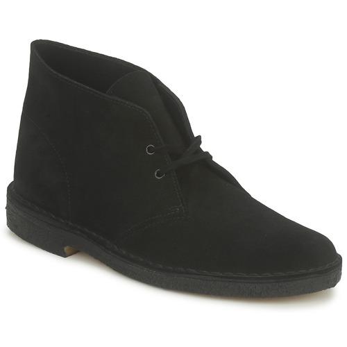 Boty Muži Kotníkové boty Clarks DESERT BOOT Černá