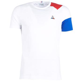 Textil Muži Trička s krátkým rukávem Le Coq Sportif ESS Tee SS N°10 M Bílá / Červená / Modrá