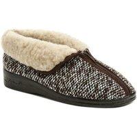 Boty Ženy Papuče Rogallo 14677 hnědé dámské zimní papuče Hnědá