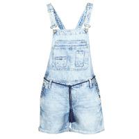 Textil Ženy Overaly / Kalhoty s laclem Pepe jeans ABBY Modrá