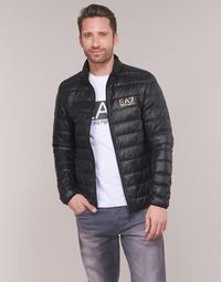 Textil Muži Prošívané bundy Emporio Armani EA7 TRAIN CORE ID DOWN LT Černá / Zlatá