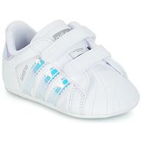 Boty Dívčí Nízké tenisky adidas Originals SUPERSTAR CRIB Bílá