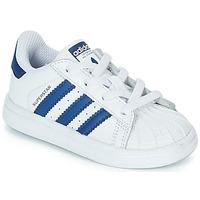 Boty Děti Nízké tenisky adidas Originals SUPERSTAR EL Bílá / Modrá