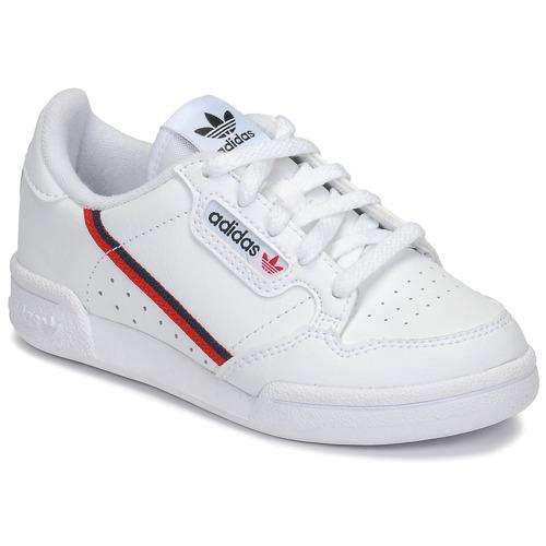 Boty Děti Nízké tenisky adidas Originals CONTINENTAL 80 C Bílá