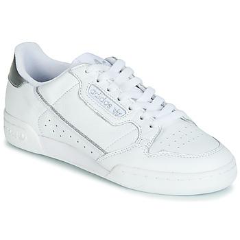 Boty Ženy Nízké tenisky adidas Originals CONTINENTAL 80s Bílá / Stříbrná