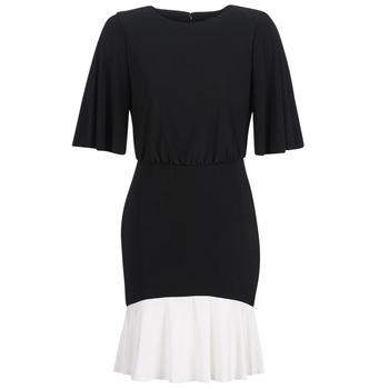 Textil Ženy Krátké šaty Lauren Ralph Lauren ELBOW SLEEVE DAY DRESS Černá / Bílá
