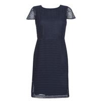 Textil Ženy Krátké šaty Lauren Ralph Lauren NAVY SHORT SLEEVE DAY DRESS Tmavě modrá