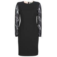 Textil Ženy Krátké šaty Lauren Ralph Lauren LACE PANEL JERSEY DRESS Černá