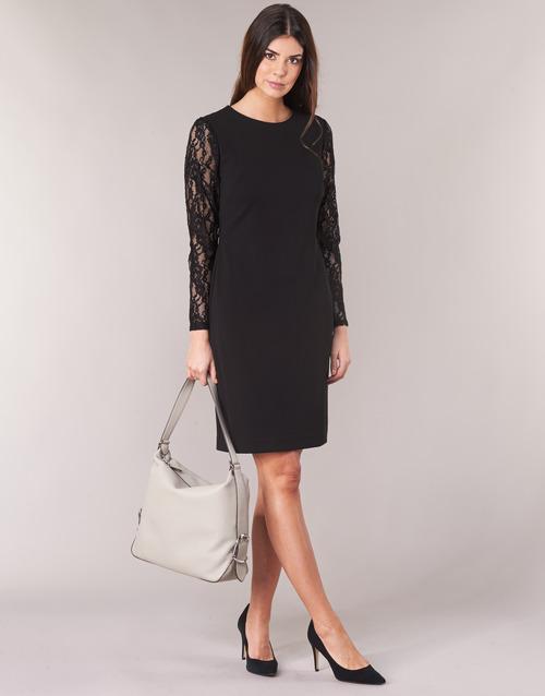 Lauren Ralph Lauren LACE PANEL JERSEY DRESS