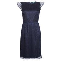 Textil Ženy Krátké šaty Lauren Ralph Lauren LACE CAP SLEEVE DRESS Tmavě modrá