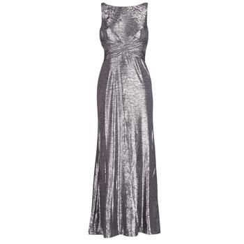 Textil Ženy Společenské šaty Lauren Ralph Lauren SLEEVELESS EVENING DRESS GUNMETAL Šedá / Stříbrná