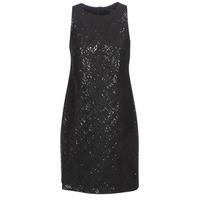 Textil Ženy Krátké šaty Lauren Ralph Lauren SEQUINED SLEEVELESS DRESS Černá