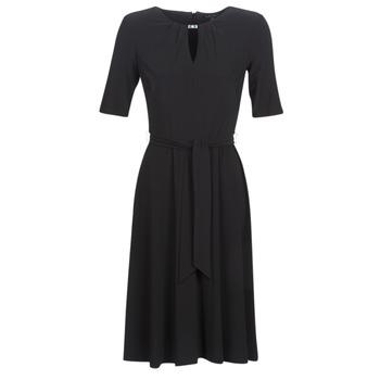 Textil Ženy Krátké šaty Lauren Ralph Lauren 3/4 SLEEVE  JERSEY DAY DRESS Černá