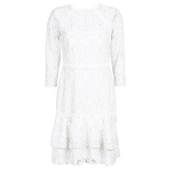 Textil Ženy Krátké šaty Lauren Ralph Lauren LONG SLEEVE-LACE DAY DRESS Bílá / Černá