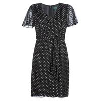 Textil Ženy Krátké šaty Lauren Ralph Lauren POLKA DOT-SHORT SLEEVE-DAY DRESS Černá