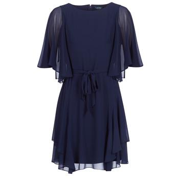 Textil Ženy Krátké šaty Lauren Ralph Lauren NAVY-3/4 SLEEVE-DAY DRESS Tmavě modrá