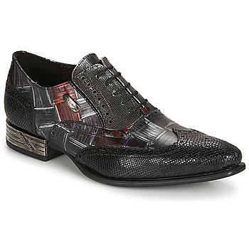 Boty Muži Šněrovací společenská obuv New Rock SALSO Černá