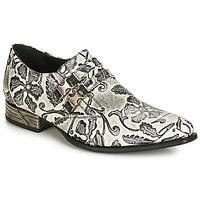 Boty Muži Šněrovací společenská obuv New Rock SALSO Černá / Bílá