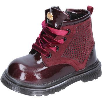 Boty Dívčí Kozačky Lulu BT356 Červená