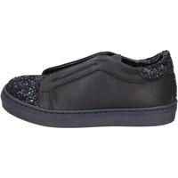 Boty Dívčí Street boty Holalà sneakers nero pelle glitter BT357 Nero