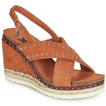 Boty Ženy Sandály Xti 48922 Zlatohnědá