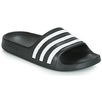 Boty Děti pantofle adidas Performance ADILETTE AQUA K Černá / Bílá