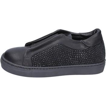Boty Dívčí Street boty Holalà sneakers nero pelle camoscio BT374 Nero